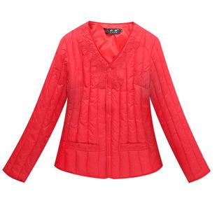 中老年人女羽绒棉服妈妈装秋冬大码短款棉衣奶奶贴身内胆保暖外套