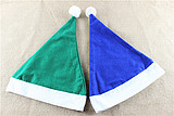 Christmas decorations Christmas hat adult Christmas hat Christmas costume Christmas hat blue Green hat
