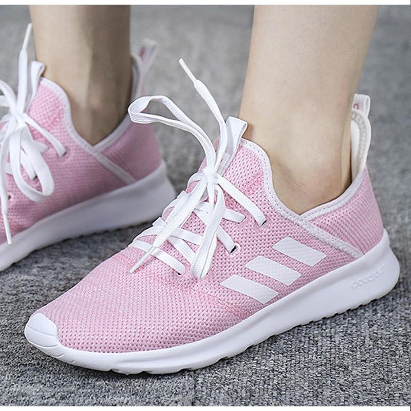 Adidas阿迪达斯女鞋2019冬季新款粉色休闲运动鞋低帮耐磨防滑板鞋