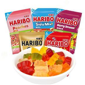 德国进口零食品哈瑞宝HARIBO金熊水果味软糖45g袋 小熊可乐QQ糖