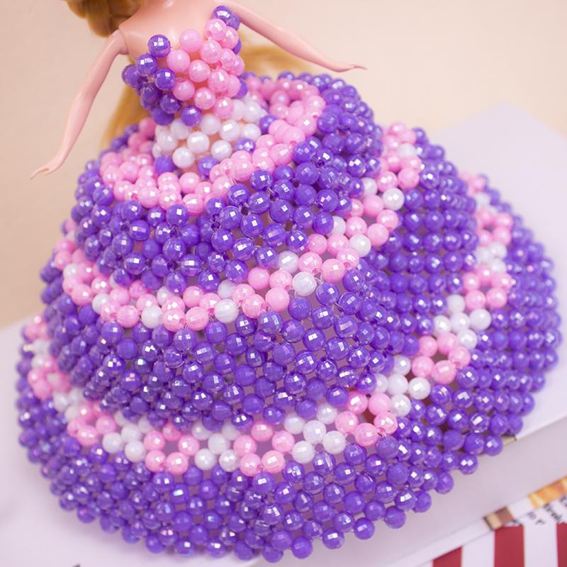 手工DIY串珠迷糊娃娃蛋糕裙玩偶女孩生日礼品儿童礼物过家家玩具