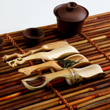 Carbonized bamboo, tea, tea, tea, teaspoon, bamboo tea shovel, six gentlemen, kungfu tea ceremony accessories, handmade