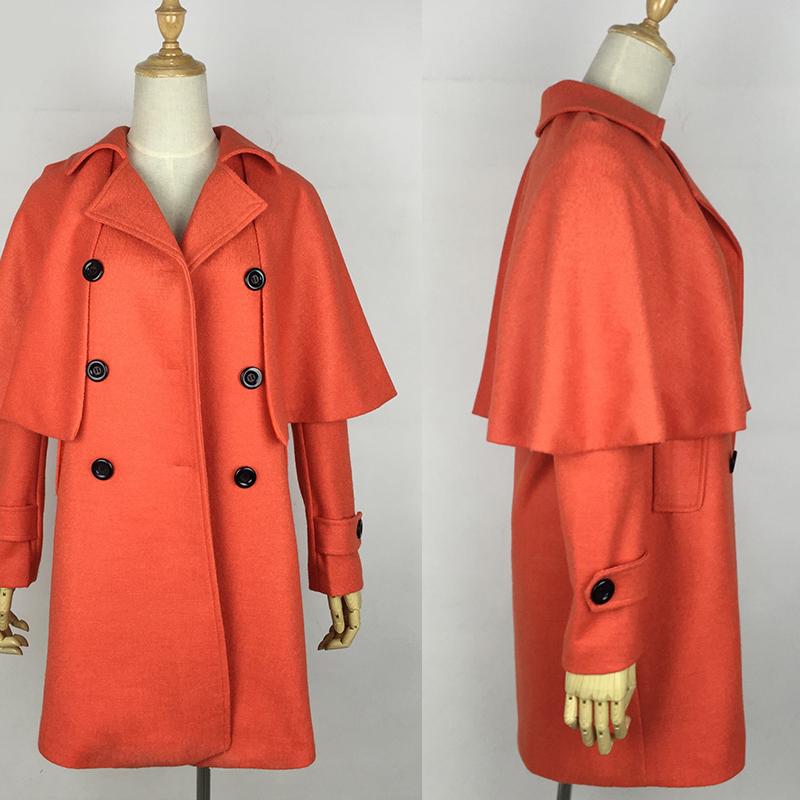 同款橘色大衣