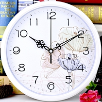 Mute Clock living room Office modern creative clock round clock simple cartoon hanging tables fashion quartz clock