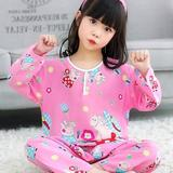 Children's pajamas boys spring and autumn long-sleeved cotton silk summer boys 10 big children 12 thin section 15 years old children's cotton.