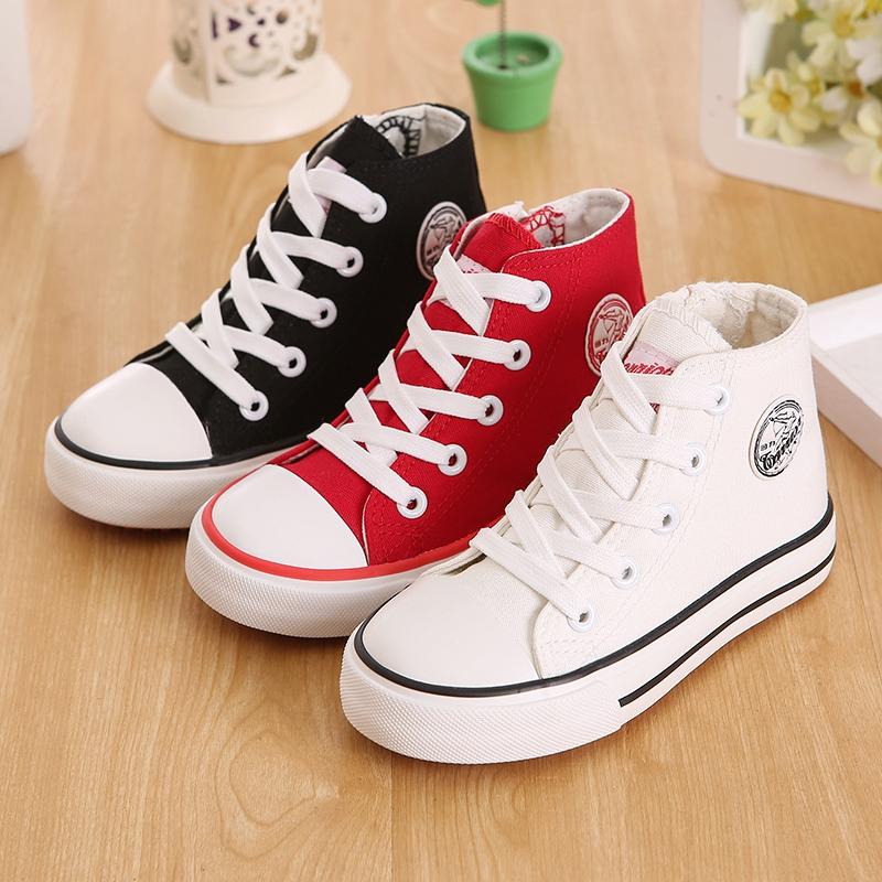 回力童鞋兒童高幫帆布鞋春季新款男童布鞋女童運動鞋中大童板鞋潮
