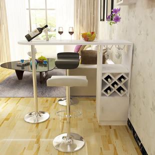 简约现代 家用吧台桌 客厅小吧台 创意咖啡桌 定制靠墙隔断柜酒柜