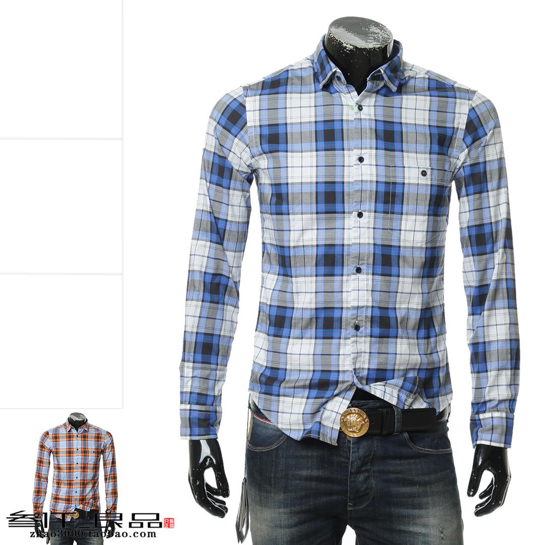 叁仟良品 Hugo Boss 绿标 男士 格子 长袖衬衫 50388311 10207843