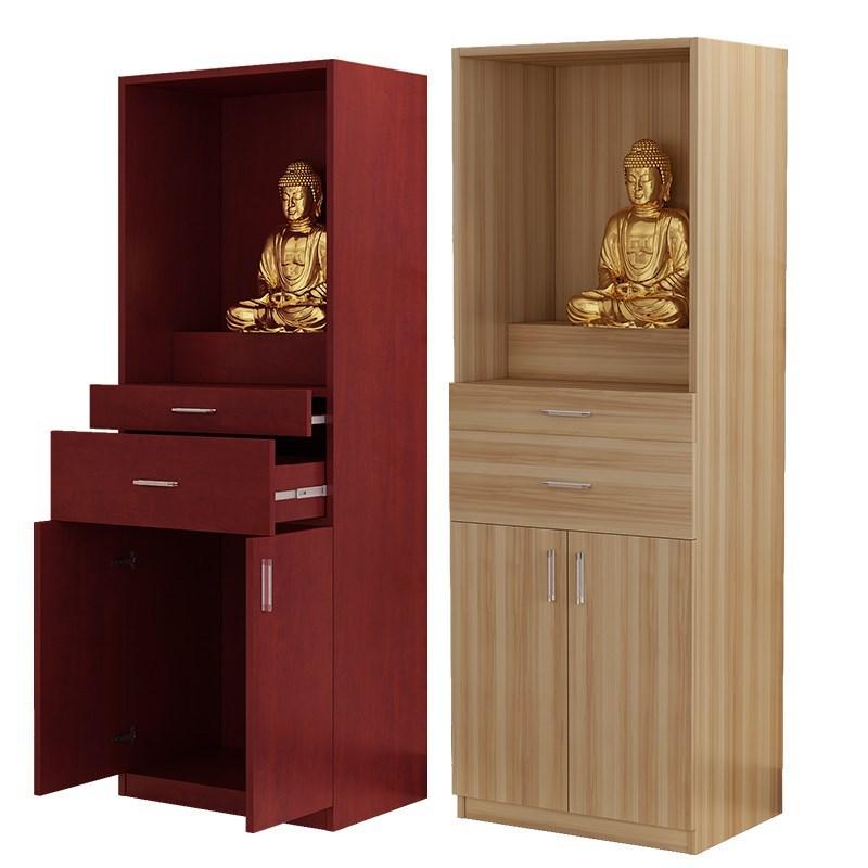 佛龛立柜带门供台实木柜观音像柜神龛佛柜供奉供桌财神关公神像柜