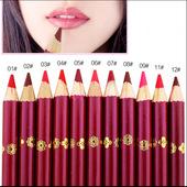 铅笔木杆可削唇线笔 哑光雾面上色口红笔画唇笔姨妈豆沙红大红色