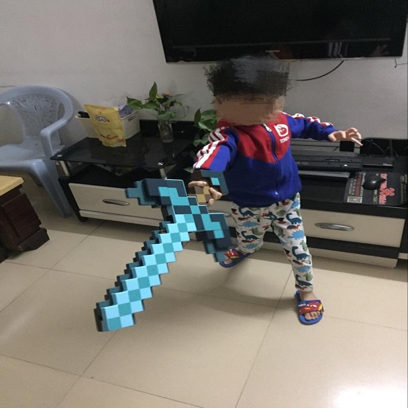 【天天特价】官方新款我的世界玩具钻石剑二合一武器蓝色变形剑镐