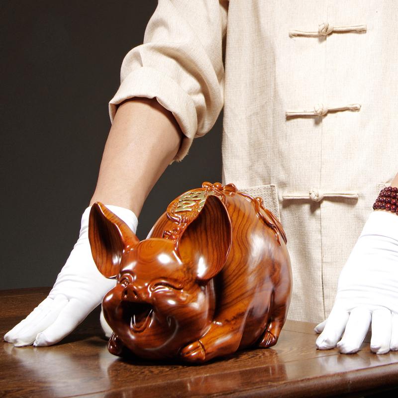 可爱笑脸十二生肖猪摆件 尺寸参考