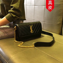 Hong Kong genuine new bags 2019 new fashionable bags with one shoulder and diagonal chain