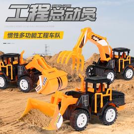 儿童玩具车惯性工程车套装男孩小汽车挖掘机推土机勾机玩具车礼盒图片