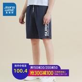 真维斯男装 2019夏装新款 全棉束腰针织短裤