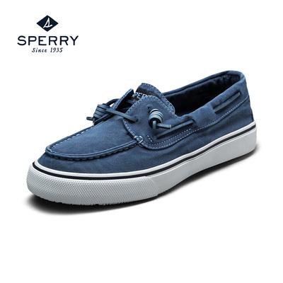 Sperry/斯佩里男鞋手工缝制帆布套脚硫化鞋 休闲时尚帆船鞋