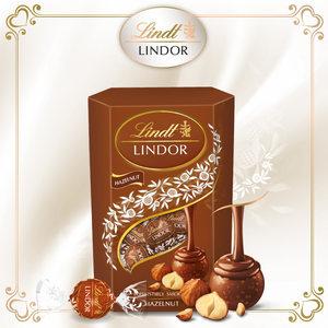 Lindt瑞士莲 进口榛子夹心软心lindor巧克力200g食品中秋节礼物