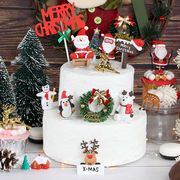 Christmas Cake Decoration Christmas Tree Decoration Santa Snowman Bell Christmas Party Decoration Cake Plugin