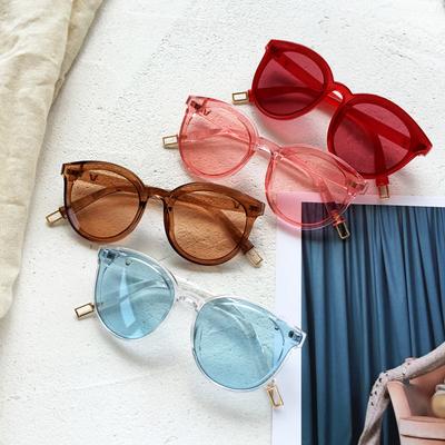 时尚透明防晒太阳镜韩国气质百搭墨镜多色树脂眼镜个性潮人学生女