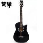 椴木材质民谣38寸新手初学者木吉他乐器入门练习jita家庭教学