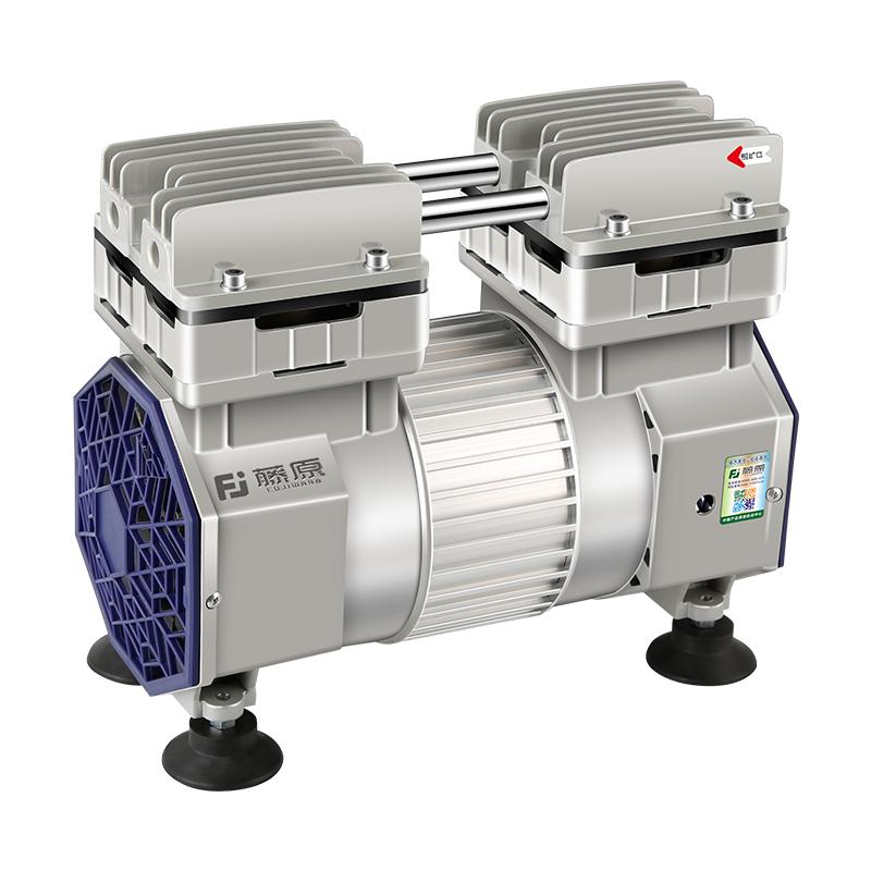 藤原 静音空压机机头无油高压冲气泵木工喷漆打气泵空气压缩机小
