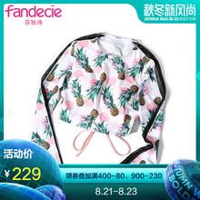 游泳衣FS0695 芬狄诗新品 INS风泳衣女水果印花性感美背绑带长袖