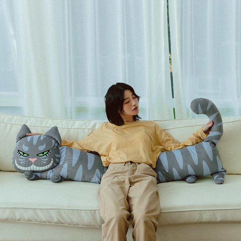 carihome笑脸猫抱枕长条枕,100元左右送男朋友闺蜜礼物