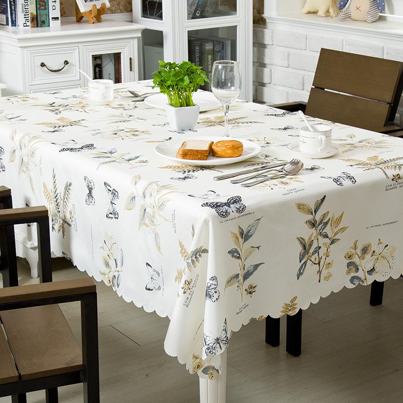 桌布布艺台布防水防油免洗茶几书桌PVC塑料餐桌垫北欧网红ins学生