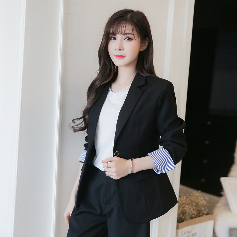 2018 spring and summer real shot new office suit two sets leisure suit +