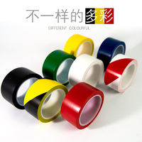 Warning tape PVC black yellow zebra crossing warning landmarks floor markings color marking tape
