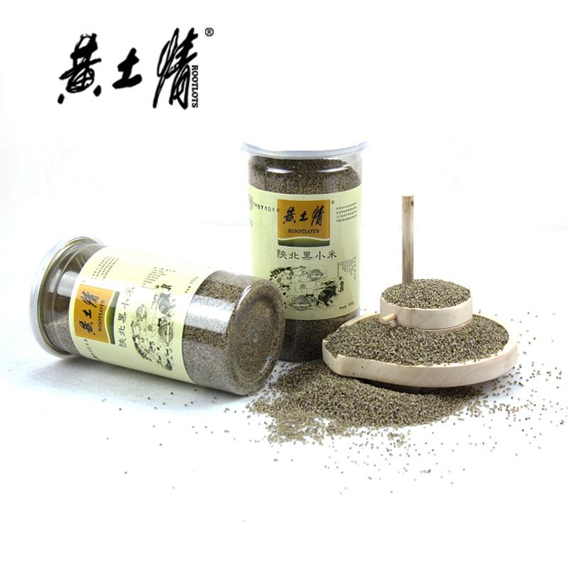 黄土情 陕北特产桶装黑小米500g*5陕北特产