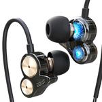 耳机入耳式重低音炮挂耳式手机通用耳塞有线控DZAT/渡哲特 DT-05