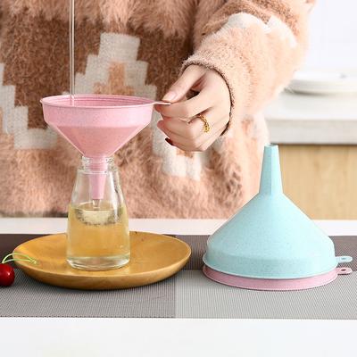 家用厨房漏斗塑料大口径酒壶分装小漏斗油壶液体加油分装工具油漏