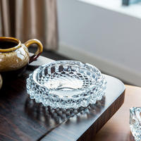 Creative living room coffee table crystal glass ashtray High-end Internet bar KTV home large hotel