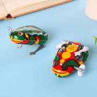 Tin frog jumping frog clockwork child baby toy classic 80 after nostalgic retro large bouncing frog