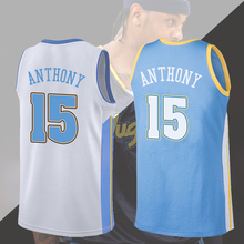 Customized Nuggets, Melons, Anthony No. 15 Jersey retro Snow Mountain Rainbow Gold Dual Gun Basketball uniform for men