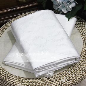 1000根埃及棉双人床单 全棉贡缎纯棉纯色提花工艺枕套床单三件套