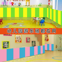 Kindergarten anti-collision wall mat Children's ring protection wall stickers soft package safe and tasteless sponge bedroom by bedside mat