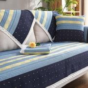 棉麻沙发垫四季简约现代通用坐垫老粗布防滑亚麻布艺沙发套巾夏季