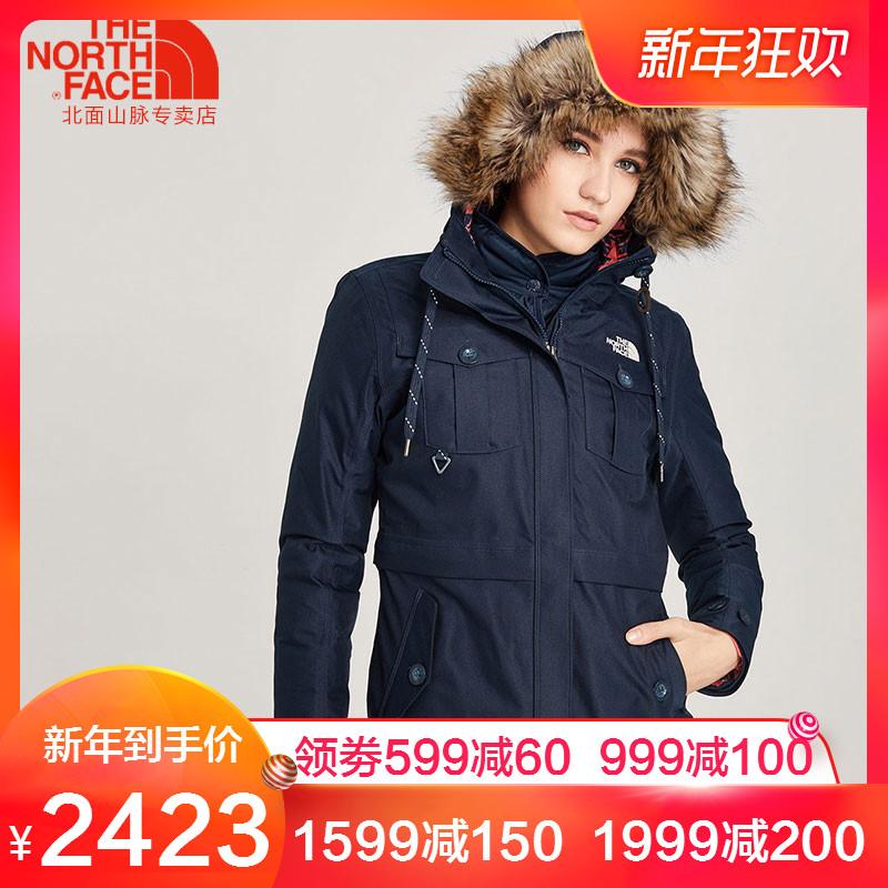 TheNorthFace北面秋冬新品防水保暖户外女三合一外套冲锋衣3L7G