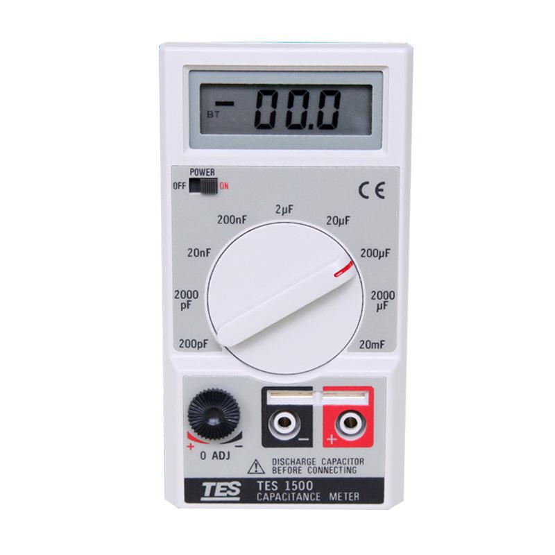 台湾泰仕TES-1500电容笔细头数字电容表检测仪电感表