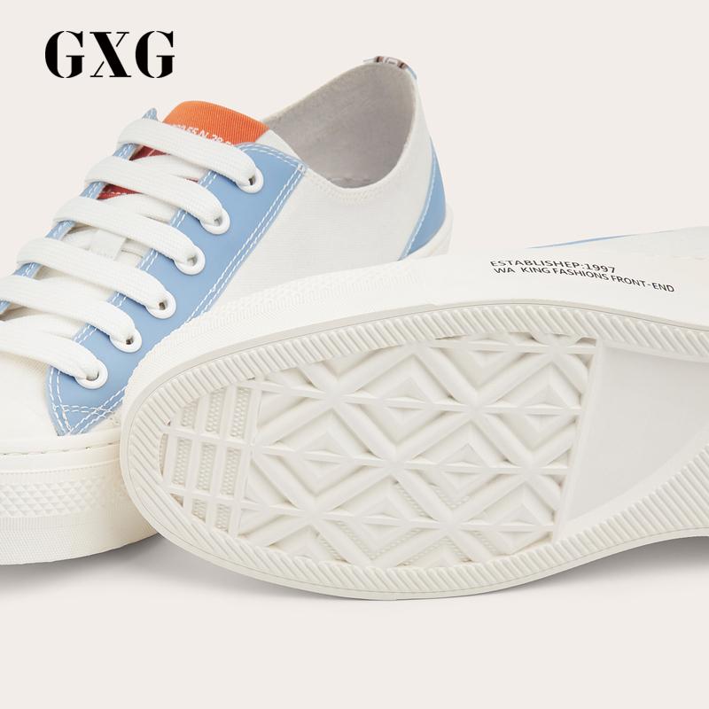 GXG男鞋帆布鞋男鞋子男潮鞋休闲鞋韩版潮流GY150463A