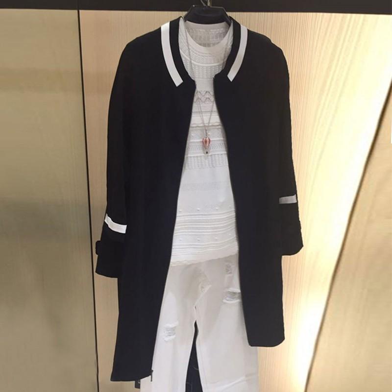 国内正品代购2018秋装新款白领哥弟新修身拼色中长款风衣毛呢外套