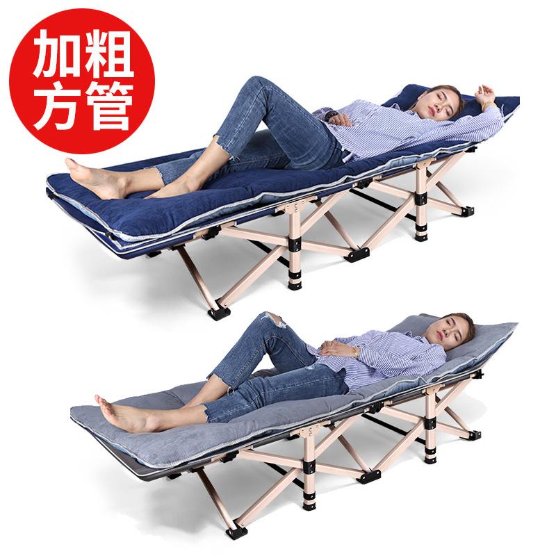 午休床加固折叠床办公室折叠躺床单人床午休床躺椅简易陪护行军床