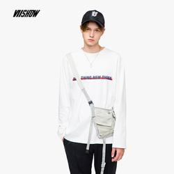VIISHOW2018秋季新款T恤男圆领套头长袖上衣男士纯棉打底衫潮牌