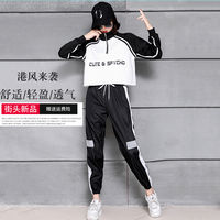 2018 autumn new jazz dance costume women's suit Korean version of loose street dance clothes modern dance costumes adult
