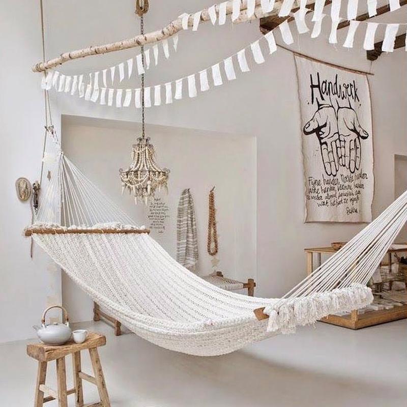 ins网状吊床秋千北欧风咖啡屋室内室外民宿抖音吊篮懒人椅子吊椅