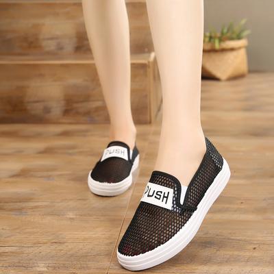 新款老北京布鞋女鞋夏季透气网鞋单鞋平底防滑休闲鞋学生鞋子女