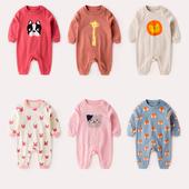 三个月宝宝衣服女春秋季外出抱衣连体衣男纯棉长袖婴儿秋装潮哈衣