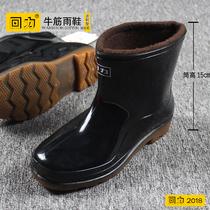 花花公子男鞋真皮内增高商务正装皮鞋套脚休闲鞋中老年爸爸鞋正品